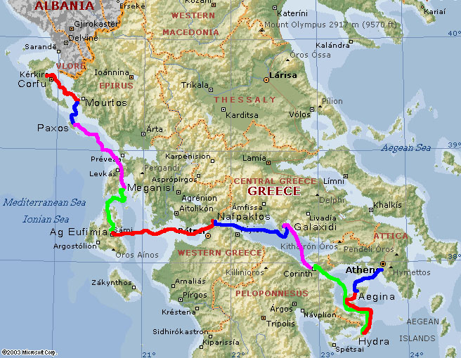 Greece 2004 Trip Maps
